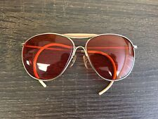 Vintage AO American Optical Sunglasses Wrap Around Ear Red/orange Lenses