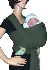 Tragetuch SONNENSCHEIN Babytragetuch Babytrage Bauchtrage stretch - olivgrün