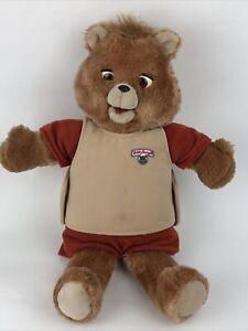 Vtg Teddy Ruxpin Bear Doll 1985 Worlds Wonder Grubby Cassette Tape FOR PARTS