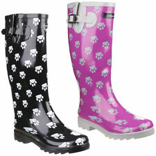 Animal Print Wellington Boots for Women