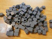 100 x LEGO NEW Dark Grey 1x1 3005 Bricks