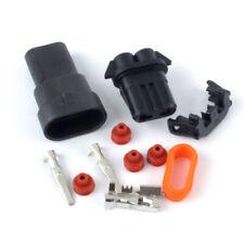 1Set 2pin waterproof 9006 Headlight Fog Light Connector Plug Cable Socket Kit