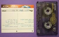 MC Musicassetta TDK CDing 1 50 vintage compact cassette audio tape USATA°no°agfa