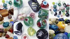 HOT 1//2 Pound Mixed Colors Assorted Lampwork Glass Beads WHOLESALE Bulk Lot