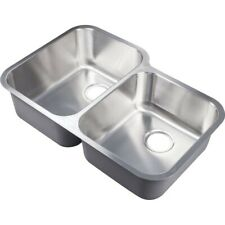 Stainless Double Bowl Under Mount Offset Sink