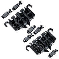 2 Sets 4 String Bass Guitar Bridge Tailpiece for Guitar Parts Replacement Black