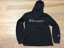 boys champion logo hoodie hooded sweatshirt medium black lightweight