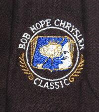 "HALEY Ladies' Golf Polo Shirt M Black ""Bob Hope Chrysler Classic"" Silver Buttons"