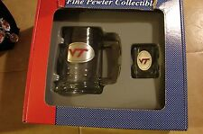 Vireginia Tech Hokies Beer mug and shot glass pewter logo