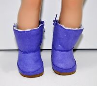 "Fits Our Generation American Girl 18"" Dolls Clothes Shoes Purple Winter Boots"