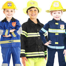 Fireman Uniform Boys Fancy Dress Firefighter Emergency Services Childs Costume