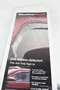 WeatherTech 82476 Side Window Deflectors Caravan or Town & Country 4 Piece Smoke