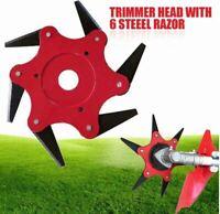 6 Steel Razors Trimmer Head Weed Wacker Blade- USA Stock