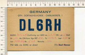 S642) Germany Dortmund Radio Amateur Station DL6RH - 21.8.1952