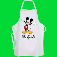 Delantal De Cocina Mickey Mouse Personalizado Niño Pre-Escolar Disney