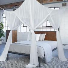 Canopy Square Mosquito Net Polyester Four Doors Insect Protection King Bed Size