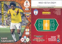 WC RUSSIA 2018 *Panini Adrenalyn-Card FANS' FAVOURITE  N.366*SANCHEZ-COLOMBIA