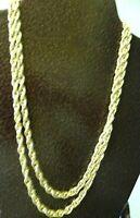 "VINTAGE 31"" GOLD TONE CHAIN NECKLACE-SECURE CLASP"
