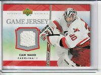 Cam Ward Carolina Hurricanes 2007-08 Upper Deck Jersey Card