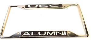 USC Trojans Alumni Metal License Plate Frame  Carbon Acrylic Inserts Cut 3-D
