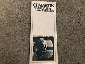 #MISC3736 MUSICAL INSTRUMENT CATALOG BROCHURE - CF MARTIN GUITAR price list