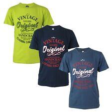 Maglia T-Shirt Uomo NAZARENO GABRIELLI NAZHP05 con Stampa Girocollo Blu Lime