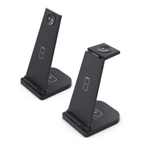 AU 3in1 15W Qi Wireless Charger Charging Dock Stand For iWatch iPhone 12 Pro 11