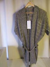veste longue NAF NAF laine gris chiné taille S