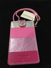 COACH PINK  LEATHER APPLE IPOD CASE NWT