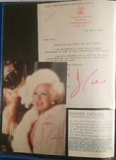 Barbara Cartland Hand Signed Autograph Photograph and Letter