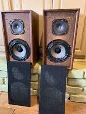 RARE Pair  MAGNAVOX 2 S-8702 AIR SUSPENSION  (2) SPEAKERS USA Vintage audio
