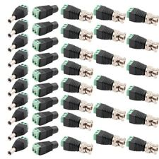 40Pcs CAT5 TO BNC Passive Video DC Male Female Power Balun Transceiver for CCTV
