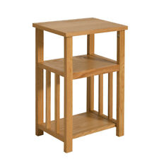 Small Oak End Stand Table Magazine Rack Shelve Side Table ShWooden Coffee Lamp