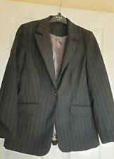Excellent Condition Principles Black Pinstripe Suit Jacket Size 12
