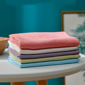 3PCS Cleaning Cloth Towel Reusable Absorbent Dish Cloths Wipe Kitchen Clean :)