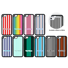 VERTICAL STRIPES Personalised Case Apple iPhone 5 5s SE 6 6s 7 8 PLUS XS MAX XR
