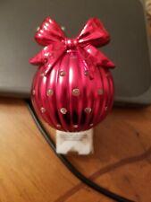 Bath & Body Works Wallflower red Christmas ball bow rhinestones