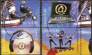 Aland - Fx. 665 - Yv. 136/9 - youth activities - 1988 - Ø