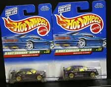 2 NEW HOT WHEELS X-RAY CRUISER SERIES MERCEDES C-CLASS 945 PURPLE GOLD LACE 1/4