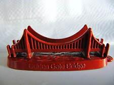 Red GOLDEN GATE BRIDGE Metal Souvenir Building SAN FRANCISCO