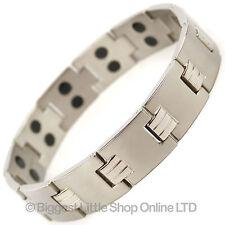 Mens TITANIUM Magnetic Bracelet Chrome Modern Style NdFeB Neodymium Therapy NEW