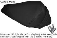 CARBON FIBRE VINYL CUSTOM FITS APRILIA RS4 125 11-12 REAR PILLION SEAT COVER