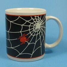 Cooks Club Halloween Spider Mug Black Orange White Spiderweb Cook's Spider Web