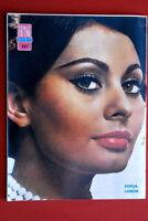 SOPHIA LOREN ON BACK COVER 1965 RARE VINTAGE EXYU MAGAZINE