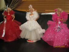 1988 1989 1990 FIRST 3 HOLIDAY BARBIES LOT DEBOXED MINT