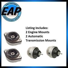 For Audi A4 VW Passat 4cyl 1.8L Auto Transmission Engine Motor Mount Set NEW
