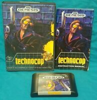 Technocop Sega Genesis Working Box, Cover Art Manual Game Tested Complete