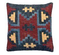Indian Jute Cushion Cover Bohemian Kilim Handwovn Rug Cushion Cover Sham