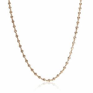 Odelia Diamond Station Necklace in 18K Rose Gold 2.25 CTW