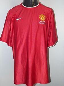 Manchester United Soccer Schools Nike (XL) Shirt Jersey Trikot Maglia Maillot
